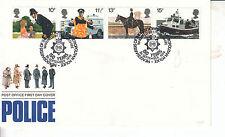 GPO FDC Polizia con set completo di francobolli e speciali H/S. 1979