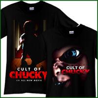 CULT OF CHUCKY Horror Thriller 2017 Movie Black T-Shirt TShirt Tee Size S-3XL