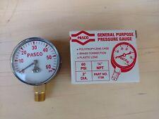 Pasco General Purpose 2 Pressure Gauge 0 60 Psi Part 1728 Nos Nib Steampunk