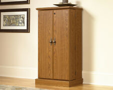 Sauder Audio/Video Storage Unit Newport Collection Oak Finish New