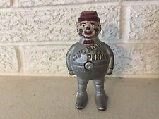 Antique original cast iron Hubley Billy Bounce  Pin Still Penny Bank c.1900