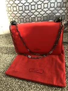 Valentino Garavani Panther Head Red Shoulder Bag Red