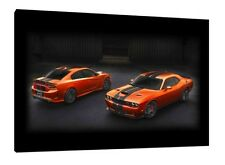 Dodge SRT Cars 30x20 Inch Canvas Art - Framed Picture Print
