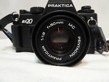 Praktica BX20 35mm Film Camera With Accessories Cased