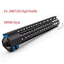 Black 15'' inch LR-308 Handguard Rail Free Floating Mount System High Profile