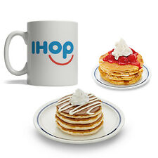 BijouLand- iHop Pancakes, Ceramic Coffee Mug, 11-ounce, White, Made in USA