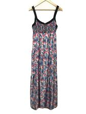 I heart Ronson Medium Maxi Dress Floral Pink Blue