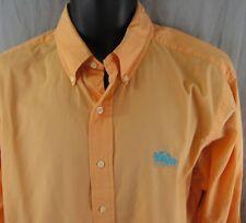 Ralph Lauren Classic Fit Dress Shirt L Orange Large Dual Polo Ponies Emblem Pony