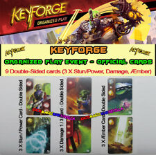 KEYFORGE CALL OF THE ARCHONS - 9 Double Sided Cards (Stun/Power, Damage, Amber)