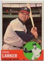 1963 Topps #536 Norm Larker EX-EXMT Milwaukee Braves High # FREE SHIPPING
