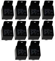 10x Relais SPDT 12V 40A/30A 5 pin broches électromagnétique pour auto voiture
