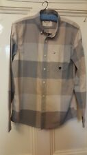 HOLLISTER - NEW WITH TAGS MENS GREY & BEIGE CHECKED SHIRT - MEDIUM