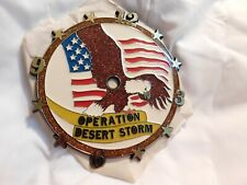 New listing Klockit Operation Desert Storm Eagle Flag Round Clock Face Usa