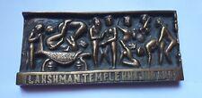 Belle plaque ancienne en bronze bas relief temple khajuraho erotique