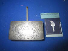 C. 1880 COMBINATION GO-TO-BED MATCH HOLDER VESTA CASE MATCH SAFE STRIKER