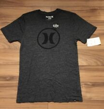 Tri Blend T Shirt Hurley Grey Logo NWT small