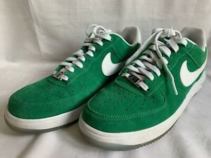 Nike Lunar Force 1'14 Green Suede Leather UK size 7 EU 41 Flat trainer worn once