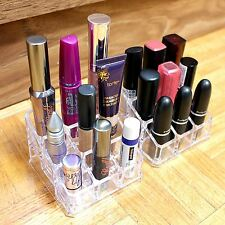 Women's Clear Acrylic 9 Tube Lipstick Holder Cosmetic Makeup Organizer Box Case
