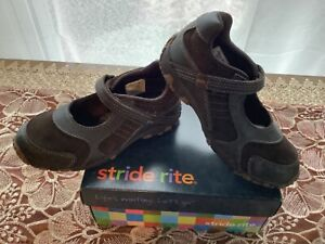 New Stride Rite HEIDI girls Mary Jane brown leather strap shoes toddler 9 10 11