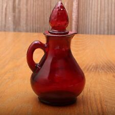 Avon Ruby Red Glass Cruet Decanter
