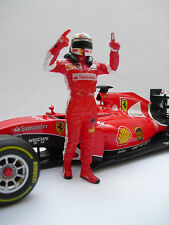 Resin Driver Figur - Ferrari SF15T Sebastian Vettel 1/18 GP Malaysia - Umbau