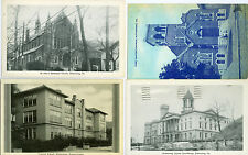 Kittanning PA Lot of 4 St Paul's, Courthouse, Central School & 1st Baptist Churc