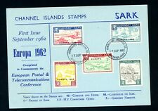 1962  Sark   Europa Shipping Co  on Card    (D2213)