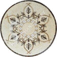 """36"""" Round Marble Dining Table Top Mosiac Amazing Inlay Home Decorative E1322"""
