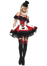 PEASANT TOP QUEEN OF HEARTS COSTUME SIZE XL (Missing Neckpiece)