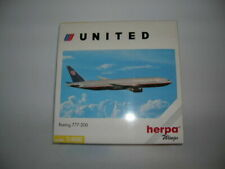 Herpa Wings Boeing 777-200 United Airline 1 400 Item 560092 Aeroplane Aircraft