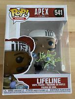 Apex Legends Mela Lee Signed Lifeline 541 Funko Pop - BAS U78550