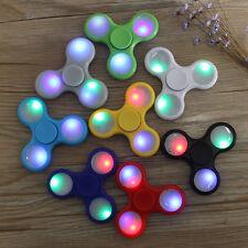 Cool LED light Fidget Hand Spinner Torqbar Brass Finger Toy EDC Focus Gyro Gift