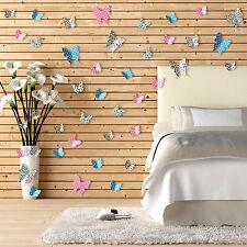 40 un. auto-adhesivo Mega Combo 3D Mariposas Formas Pegatinas de Pared Decoraciones