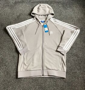 Adidas Originals Superstar Hoodie Mens Large Grey With White Stripes Rare Active