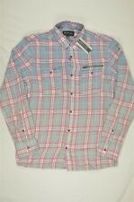 NEW MEN'S INC International Concepts Ombre Plaid Cotton Shirt sz S $65 #95-94073