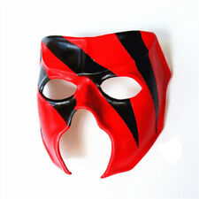 Kane Cosplay Mask Leather Prop Halloween Wrestling Costume Champion Red Black