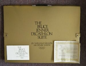 Auto Bruce Jenner Decathlon Suite 10 Original Lithographs 103/500 William Nelson