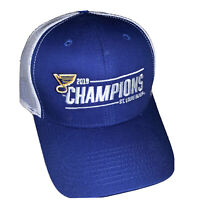 New ST. LOUIS BLUES 2019 Stanley Cup Champions Hat Cap Snapback Mesh Back