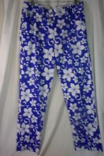 Royal & Awesome Blue/White Floral Pants, 34 x 32 New Without Tags