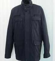 Michael Kors Navy Blue Mens All-Weather Quilted Anorak Coat RRP$395 Size L