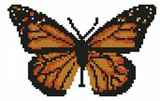 "Orange Butterfly Counted Cross Stitch Kit 5.5"" x 3.5"""