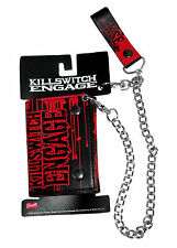 "KILLSWITCH ENGAGE ""ZOMBIE"" BLACK FAUX LEATHER TRIFOLD CHAIN WALLET NEW OFFICIAL"