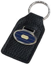 MG MGA car key ring / fob - leather and enamel
