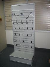 Aluminium Framed Slatwall Retail Displays - to Clear