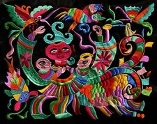 Chinese miao hmong machinemade tribal colorful embroidery Riding 23091