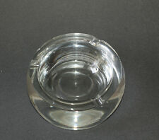 Heavy Orb Shaped Ashtray by Krosno of Poland, Glass Ashtray