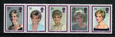 Princess Diana Great Britain #1791-1795, Mint NH - Strip of 5