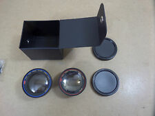 Optex OVL 250 Video Camera Telephoto & Wide Angle Lens adaptors 37mm screw mount
