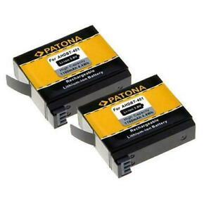 2 Batterie per GoPro Hero 4 Black Edition  basse temperature 1160mAh  PATONA TOP
