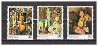 S24093) Portugal 1988 MNH Paintings 3v
